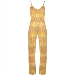 Sam & Lavi Bianca boho gold V-neck jumpsuit